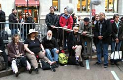 John Edminster and others at Occupy Wall Street